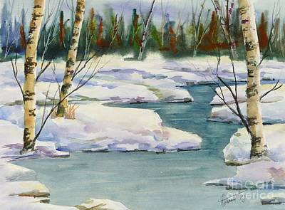 Cool Winter -  Watercolour Original by Mohamed Hirji