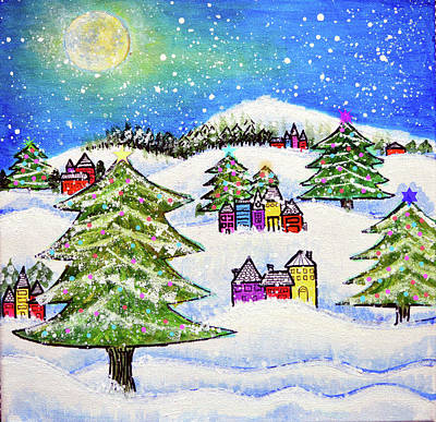 Winter Wonder Art Print by Robin Mead