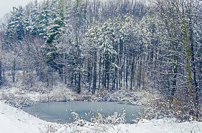 Nature Center Pond Photograph - Winter Wonderland 4 by SharaLee Art