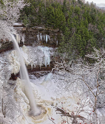 Photograph - Winter Wonderland At Kaaterskill Falls by Angelo Marcialis