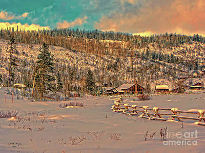 Photograph - Winter Wonderland At Sunset by Bill And Deb Hayes