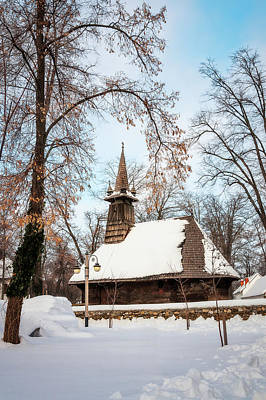 Photograph - Winter Wonderland At The Village Museum In Bucharest by Daniela Constantinescu