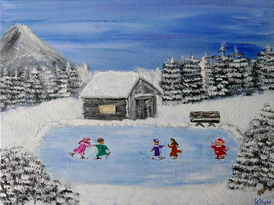Painting - Winter Wonderland by Bernd Hau