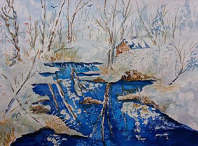 Painting - Winter Wonderland Catskills  by Ellen Levinson