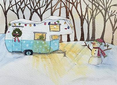 Painting - Winter Wonderland Glamping by Kerrie Hubbard