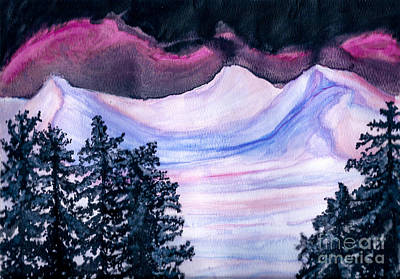 Painting - Winter Wonderland by Heather  Hiland