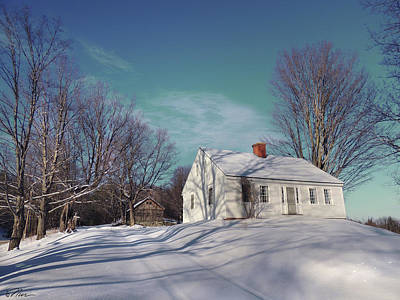 Photograph - Winter Wonderland In Newbury Vermont by Nancy Griswold