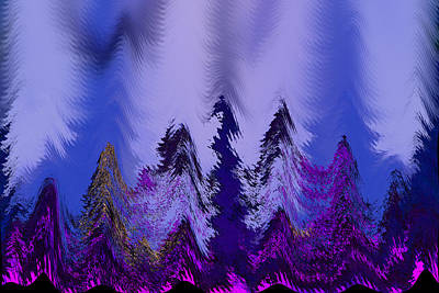Photograph - Winter Wonderland In Pink And Blue by Suzanne L Kish