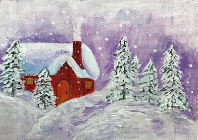 Painting Royalty Free Images - Winter Wonderland Royalty-Free Image by Judy Jones