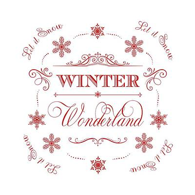 Winter Wonderland Let It Snow Art Print by Antique Images