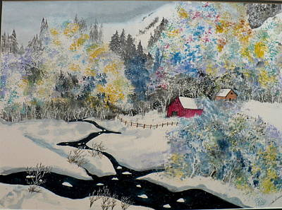 Snow Covered Ground Painting - Winter Wonderland by Linda Shearer