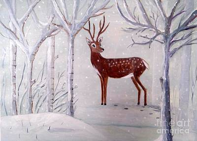 Painting - Winter Wonderland - Painting by Veronica Rickard