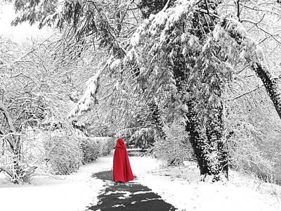 Winter Wonderland Walk II Art Print