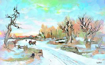Painting - Winter Wonderland by Wayne Pascall