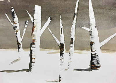 Painting - Winter Wood by Carole Johnson