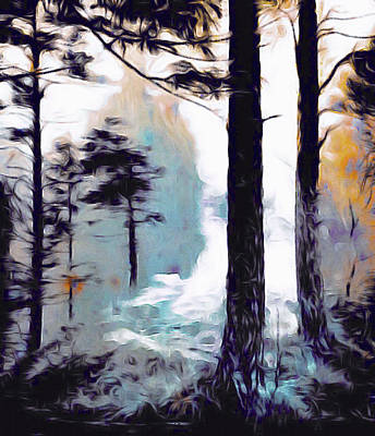 Digital Art - Winter Woodland by Susan Maxwell Schmidt