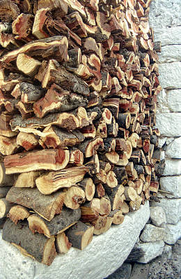 Winter Woodpile Art Print