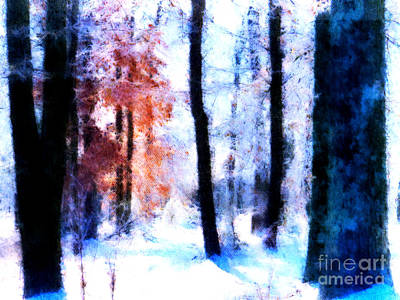 Digital Art - Winter Woods by Craig Walters