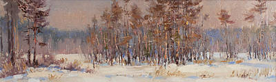 Painting - Winter Woods. Panorama by Valentina Kondrashova