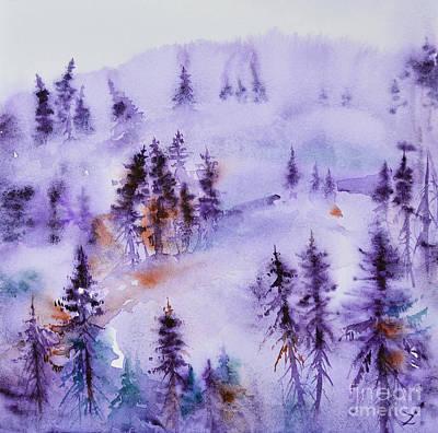 Painting - Winter by Zaira Dzhaubaeva