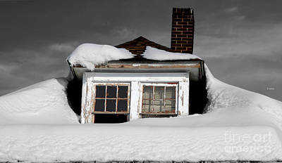 Winter Storm Digital Art - Winterfall  by Steven Digman