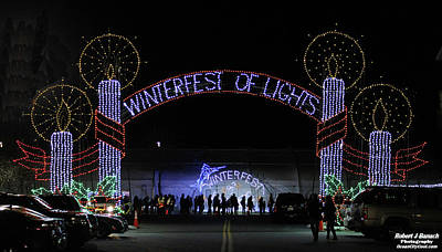 Photograph - Winterfest Of Lights 2016 by Robert Banach