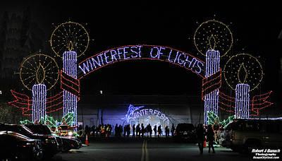 Photograph - Winterfest Of Lights 2016 by Robert Banach