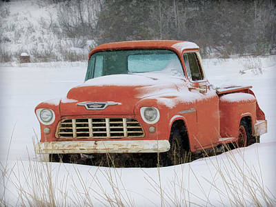 Photograph - Winterized 1955 Chevy Pickup by Steve McKinzie