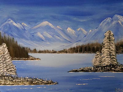 Painting - Winterlake by Bernd Hau