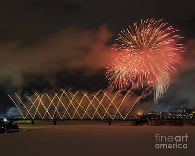 Fire Works Photograph - Winterlude Festival Opening.. by Nina Stavlund