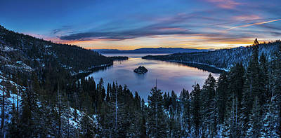Photograph - Winters Awakening - Emerald Bay By Brad Scott by Brad Scott