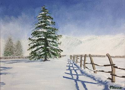 Painting - Winter's Beauty by Cynthia Morgan