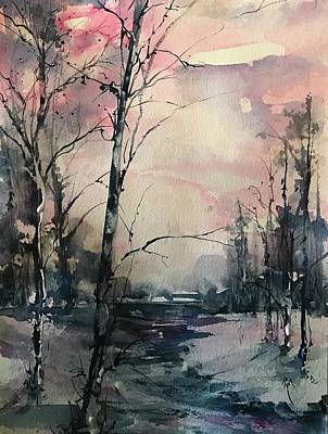 Painting - Winter's Blush by Robin Miller-Bookhout