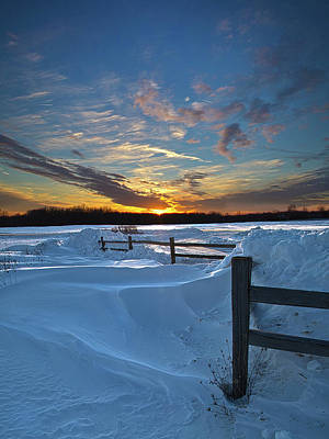 Snowscape Photograph - Winter's Border by Phil Koch