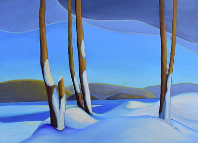 Painting - Winter's Calm by Barbel Smith