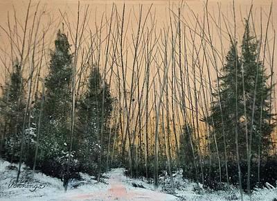 Pastel - Winters Cold Kiss by Gary Edward Jennings