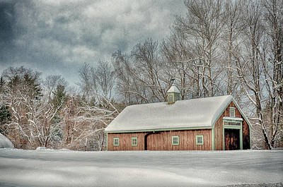 Blue Barn Doors Digital Art - Winters Coming by Tricia Marchlik