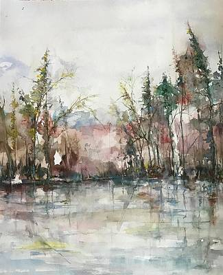 Painting - Winters  Dawn Series by Robin Miller-Bookhout