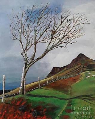 Winter's Day At Yewbarrow -painting Art Print by Veronica Rickard