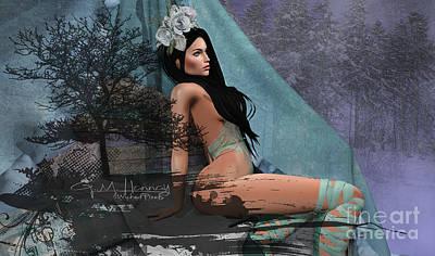 Digital Art - Winters Edge 1 by Georgina Hannay