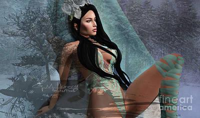 Digital Art - Winters Edge 2 by Georgina Hannay