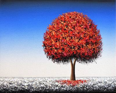 Winter Scene Art Painting - Winter's Edge by Rachel Bingaman