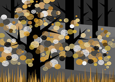 Dots And Lines Digital Art - Winters Edge by Val Arie