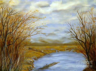 Branch Hill Pond Painting - Winter's End by Ida Eriksen