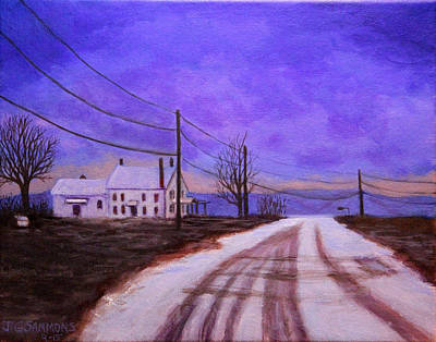 Painting - Winters Evening by Janet Greer Sammons