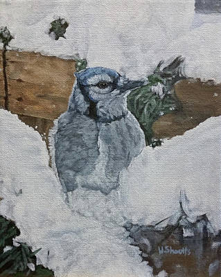 Painting - Winters Greeting by Wendy Shoults