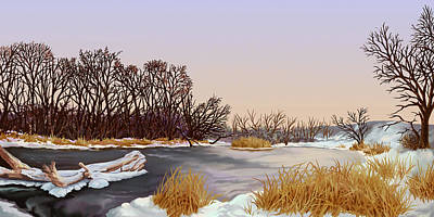 Painting - Winter's Grip by Hans Neuhart