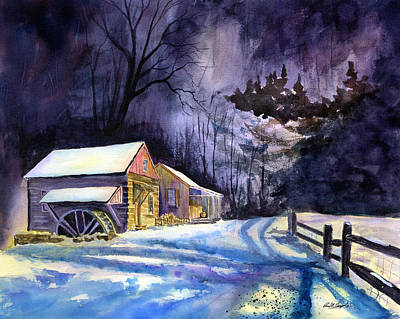 Winter's Grip Art Print by Paul Temple