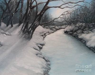 Painting - Winters Grip by Peggy Miller