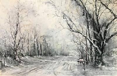 Painting - Dee Street Series Winter Wonderland by Robin Miller-Bookhout